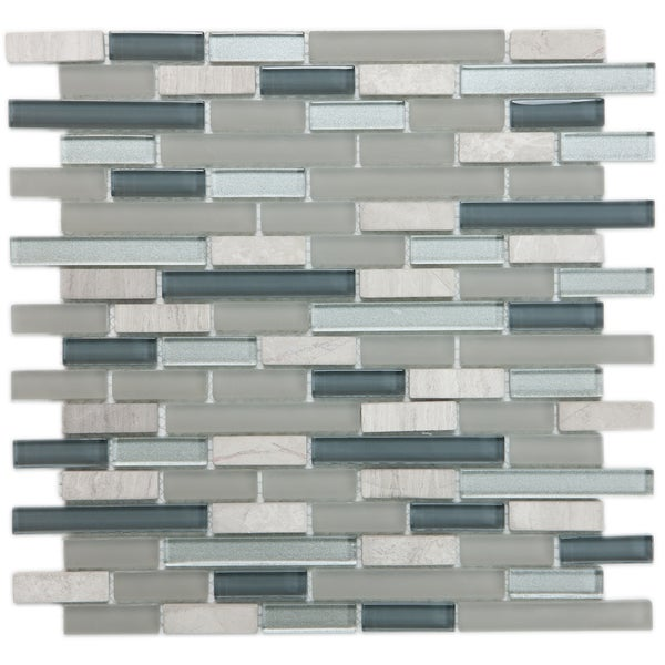 ICL H-123 Blue / Grey Glass Marble Mix (Case of 11)