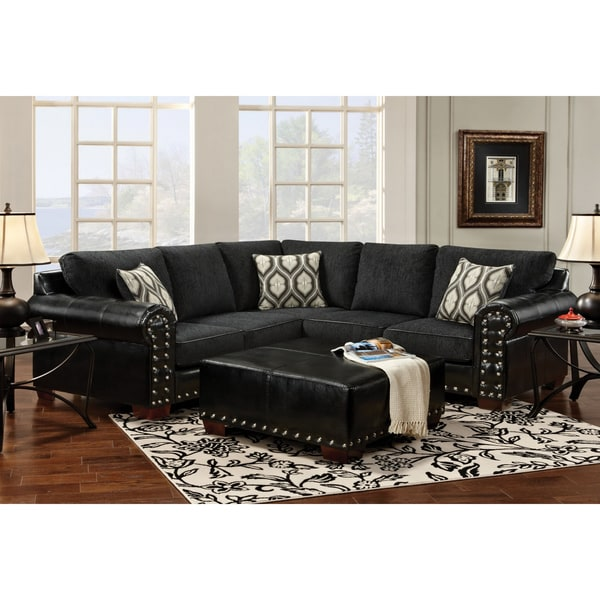 Furniture of America Charlotte Ebony Finish Sectional