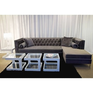 Decenni Custom Furniture 9 1/2 Foot 'Tobias' Grey Sectional