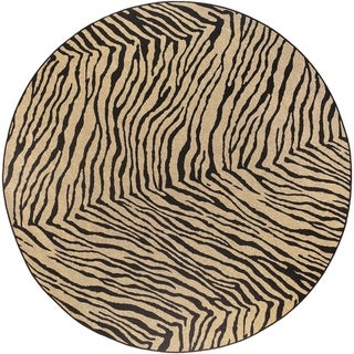 Larimer Tan Animal Print Rug (5'3 Round)