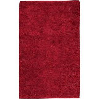 Hand-woven Baca Red Wool Rug (8' x 10'6)