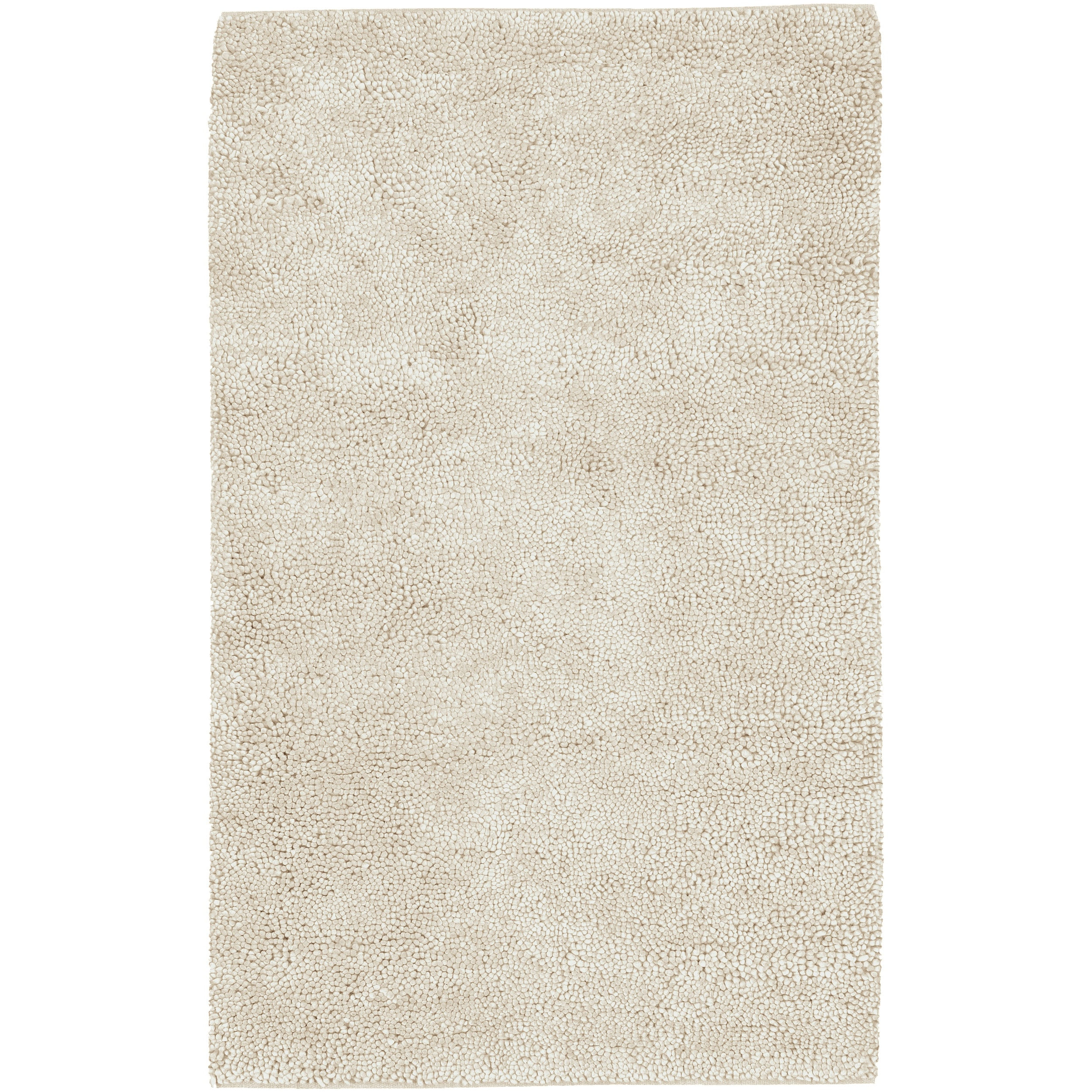 Hand-woven Delta Ivory Wool Rug (3'6 x 5'6)