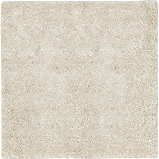 Hand-woven Pueblo Ivory Wool Rug (8' Square)