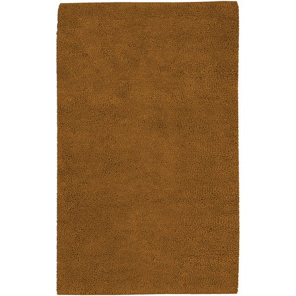 Hand-woven Alamosa Brown Wool Rug (8' x 10'6)