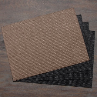 Black/ Brown Reversible Placemat (Set of 4)