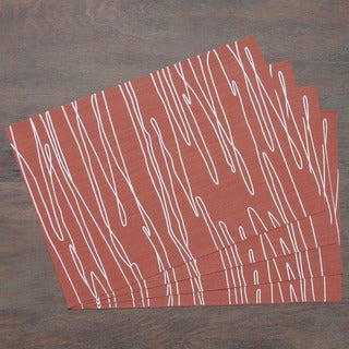 Brick Modern Scribbles Woven Placemat (Set of 4)