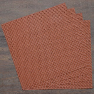 Rust Contemporary Woven Placemat (Set of 4)