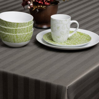 Carlton Black Herringbone Spill-proof Tablecloth