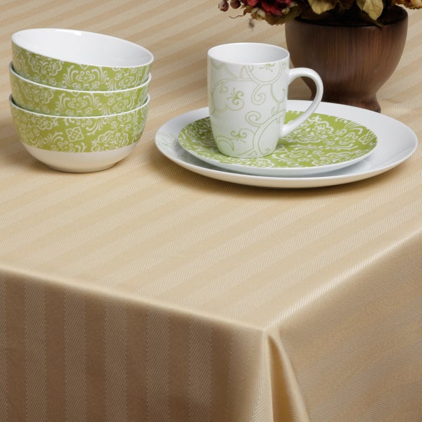 Carlton Gold Herringbone Spill-proof Tablecloth