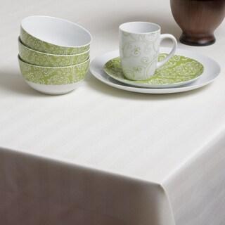 Carlton Ivory Herringbone Spill-proof Tablecloth