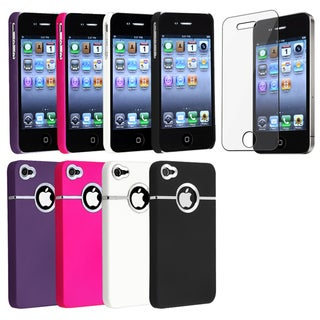 BasAcc Snap-on Rubber Coated Cases/ Protector for Apple iPhone 4/ 4S