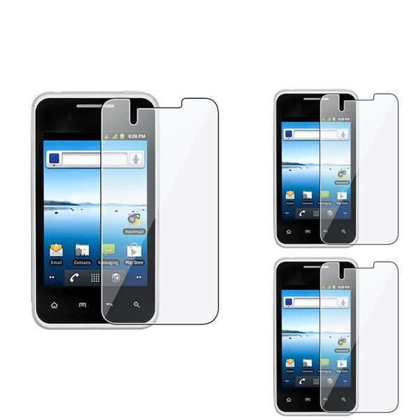 INSTEN Clear Screen Protector for LG Optimus Elite LS696 (Pack of 3)