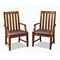 Arts Crafts Game Chairs with Oak Finish (Pack of 2)