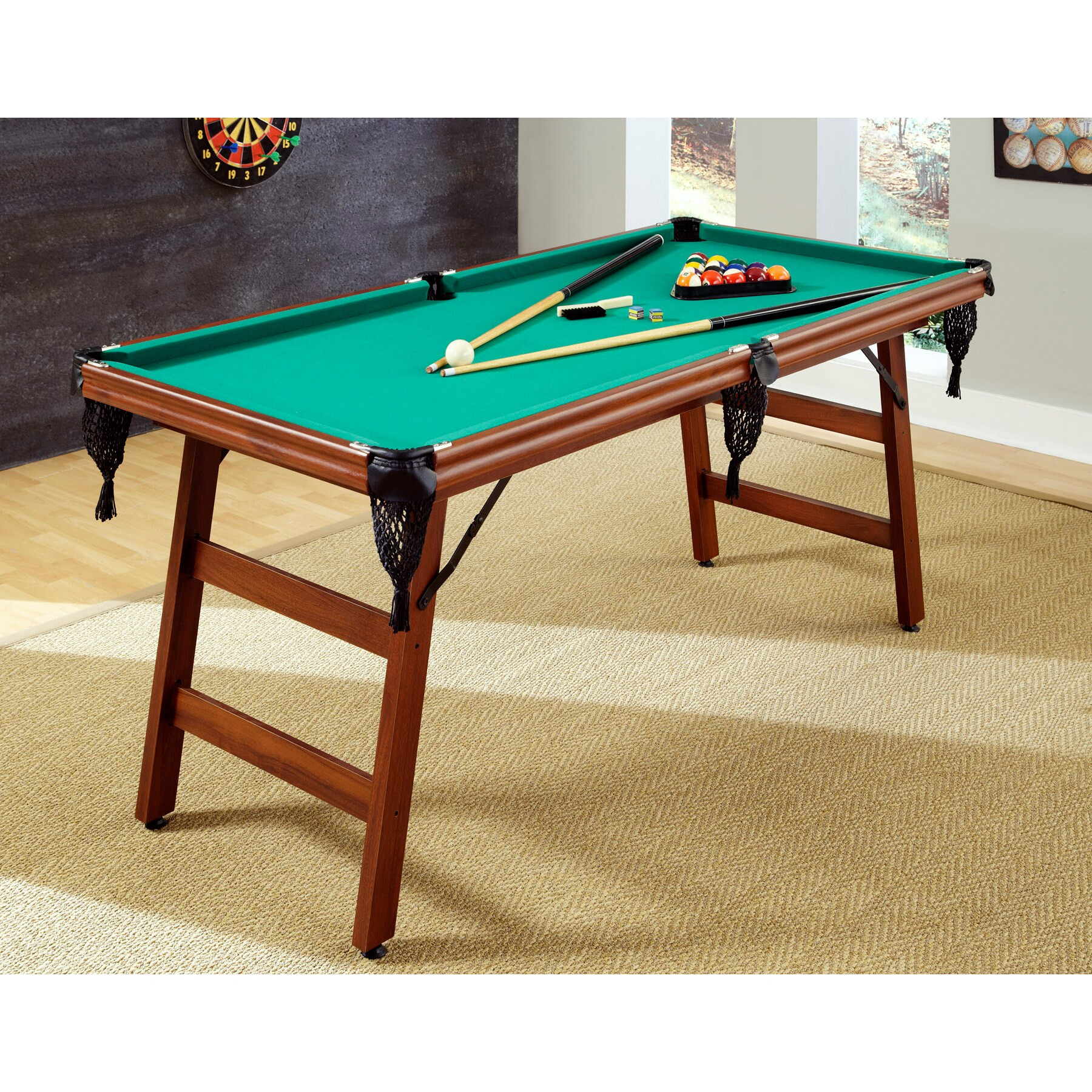 Overstock.com 'The Real Shooter' 6 foot Pool Table at Sears.com