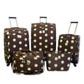 Jenni Chan Dots Brown / Green 5-piece Spinner Luggage Set