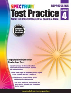 Spectrum Test Practice, Grade 4: With Free Online Resources for Each U.s. State (Paperback)
