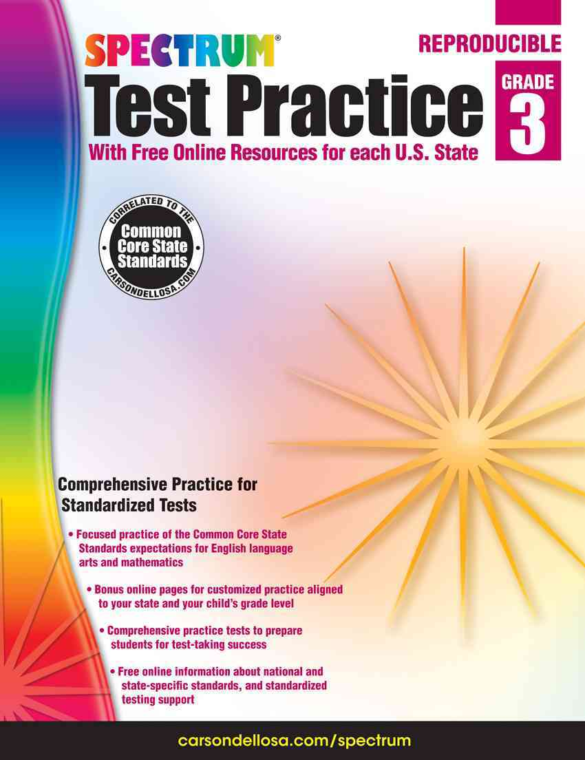 Test Practice, Grade 3: With Free Online Resources for Each U.s. State (Paperback)