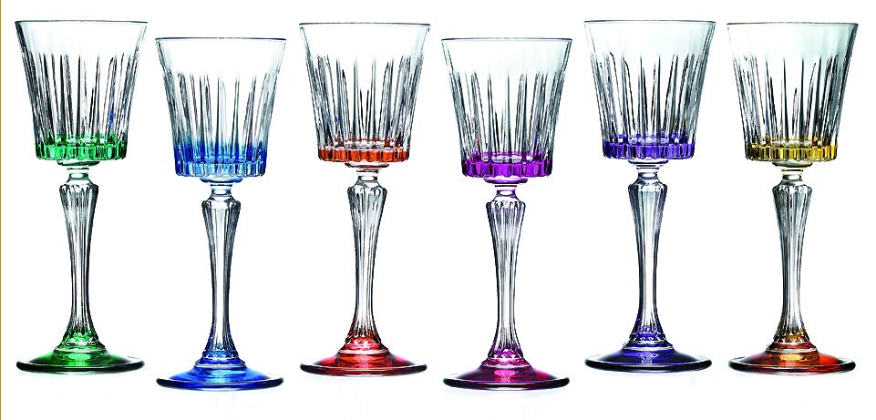Lorren Home Trend Timeless Multicolor Cordials (Set of 6)