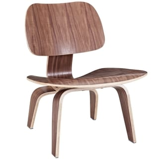 Molded Walnut Plywood Lounge Chair