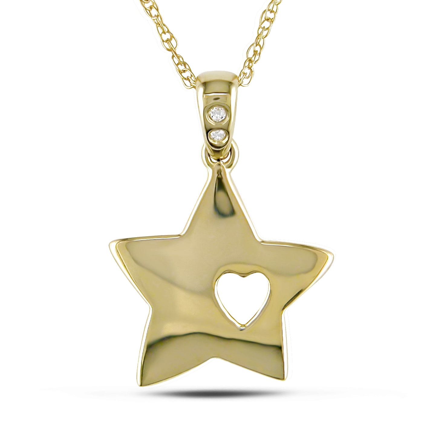 Miadora 10k Yellow Gold Diamond Accent Star Necklace