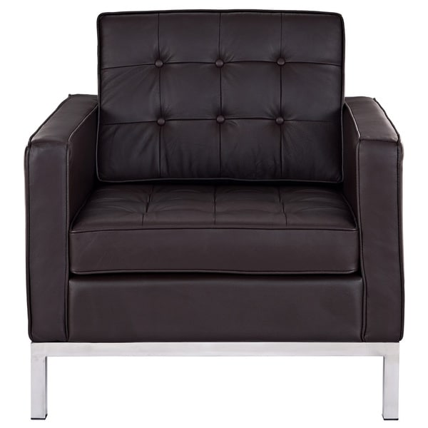 Florence Brown Genuine Leather Armchair