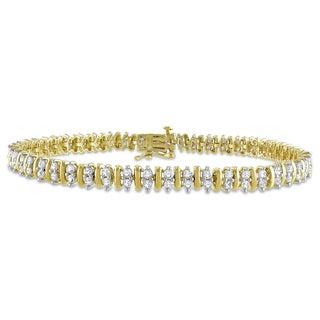 Miadora 10k Yellow Gold 2ct TDW Diamond Bracelet (H-I, I2-I3)