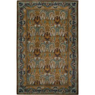 Hand-tufted Blue/Brown Novelty Abtenauer New Zealand Wool Rug (2' x 3')