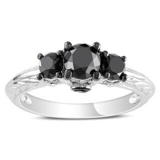 Miadora 14k Gold 1 1/2ct TDW Black and White Diamond Ring (G-H, I1-I2)