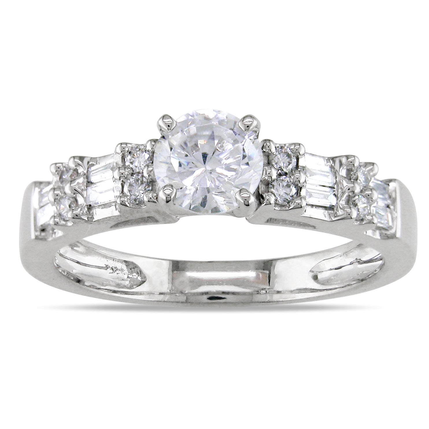 Miadora 14k White Gold 3/4ct TDW Diamond Engagement Ring (G-H, SI2)