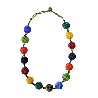 Multicolor Large Sweetie Beadwork Necklace (South Africa)