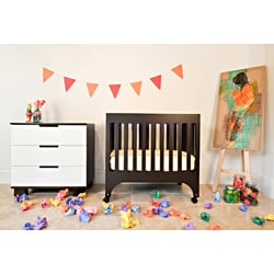 Babyletto 'Grayson' Espresso Mini Crib with Pad
