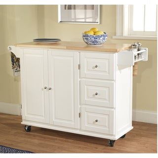 Aspen 3-drawer Spice Rack Drop Leaf Kitchen Cart
