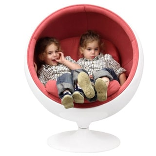 Eero Aarnio Style Kids Ball Chair in Pink
