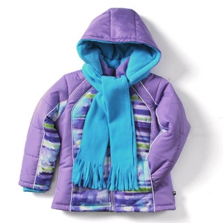 Rothschild Girls' Print Panel Jacket with Scarf