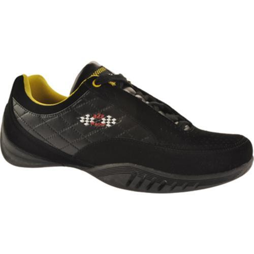 Men's A2Z Racer Gear Modena Driving Shoe Black/Yellow