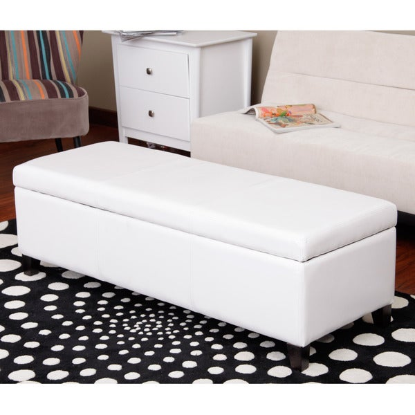 Faux Leather Storage Bench Ottoman Seat Furniture Foot Stool Rest Home Footstool Ebay