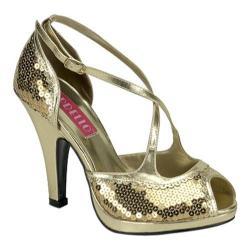 Women's Bordello Siren 07SQ Gold Sequins
