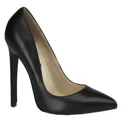 Women's Devious Sexy-20 Black Leather