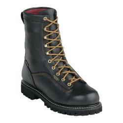 Men's Georgia Boot G80 8in Insulated Waterproof Boot Black Full Grain Leather