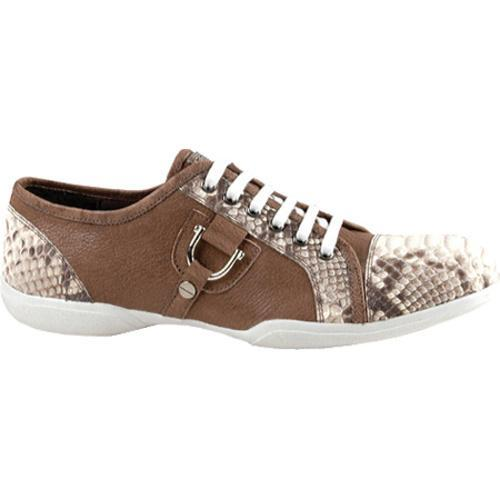 Men's GooDoo Luxury 004 Brown Calf/Beige Anaconda Print Leather