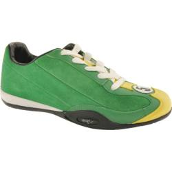 Men's Hunziker Collection Clark - Suede/Leather - British Racing Green/Yellow