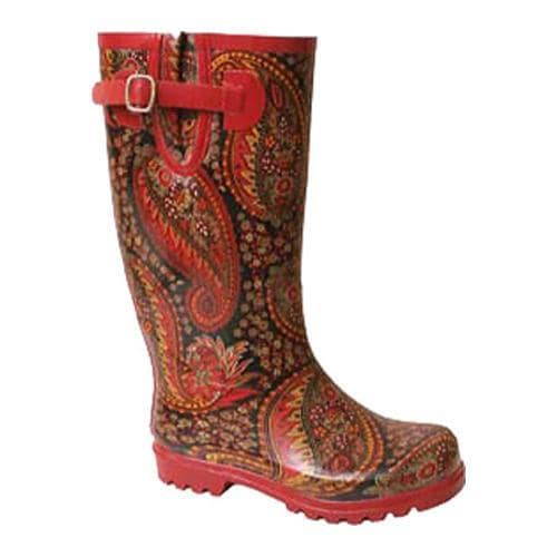 Women's Nomad Puddles Red Paisley