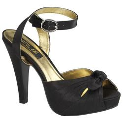 Women's Pin Up Bettie 04 Black Satin