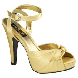 Women's Pin Up Bettie 04 Gold Satin
