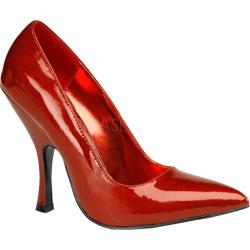 Women's Pin Up Bombshell Red Pearlized Glitter Patent Leather