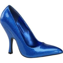 Women's Pin Up Bombshell Blue Pearlized Glitter Patent Leather