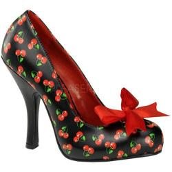 Pin Up Women's Cutiepie 06 Black/Red Cherry PU