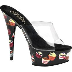 Women's Pleaser Motif 601CC Clear/Black