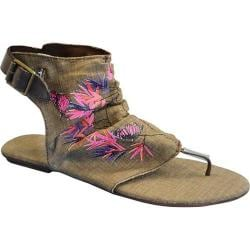 Women's Sun Luks by Muk Luks Cutout Gladiator Sandal Chocolate