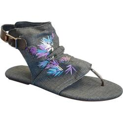 Women's Sun Luks by Muk Luks Cutout Gladiator Sandal Denim